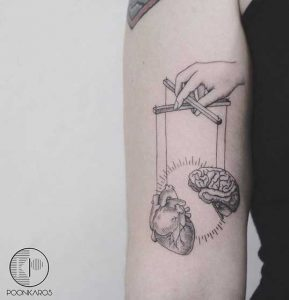 Heart-&-Mind-Tattoo-by-Poonkaros